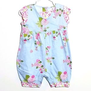Hanna Andersson Floral Romper 60 3-6m